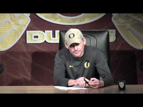 Mark Helfrich explains how Oregon will try to shield ASU from stealing signs