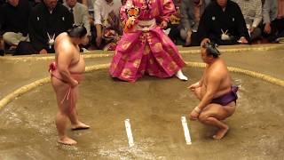 【宇良】 宇良 vs 蒼国来 フワッとした立会いからとったり (2017年5月場...
