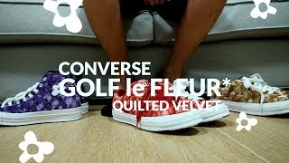 "Review Converse GOLF le FLEUR* ล่าสุด ""Quilted Velvet"" 3 สี"