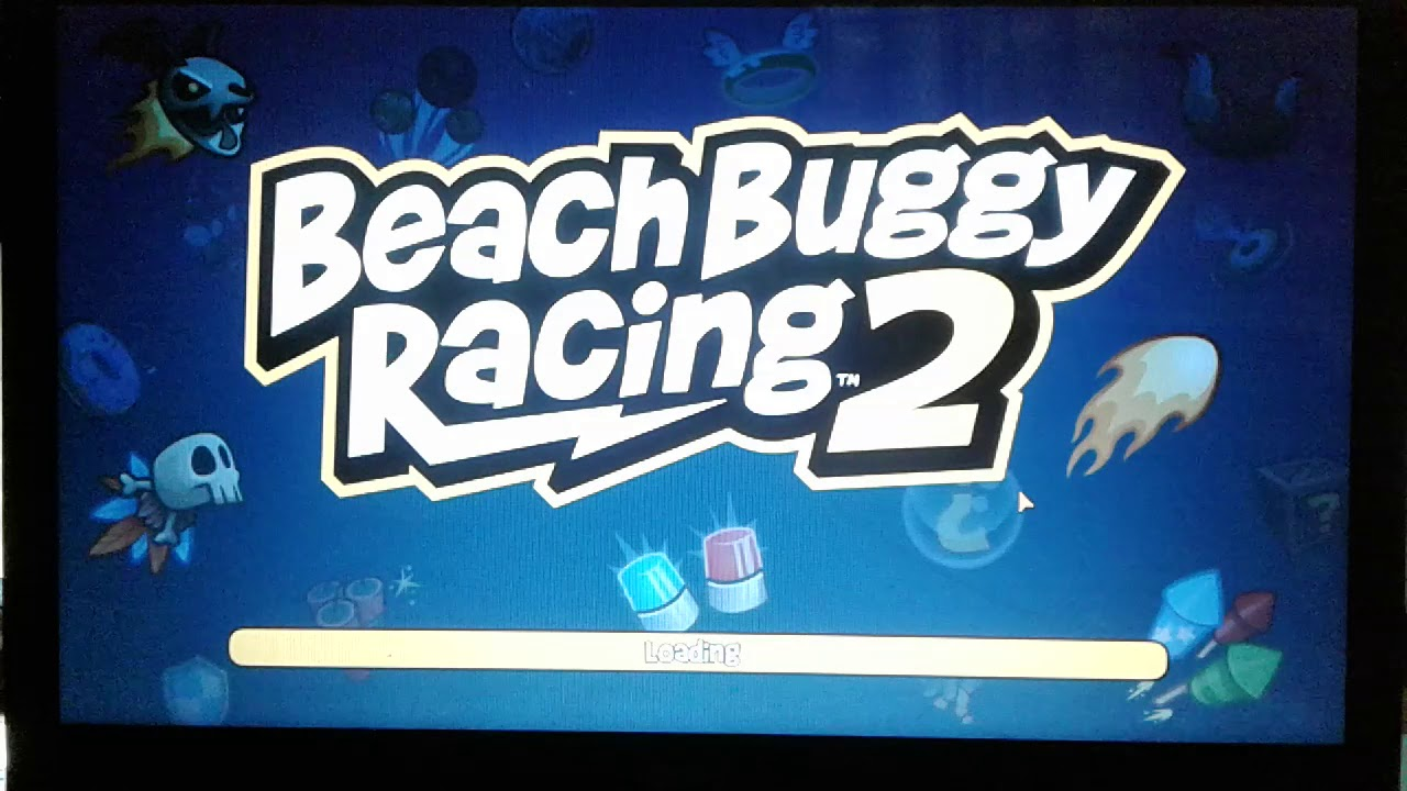 Beach buggy playing on laptop