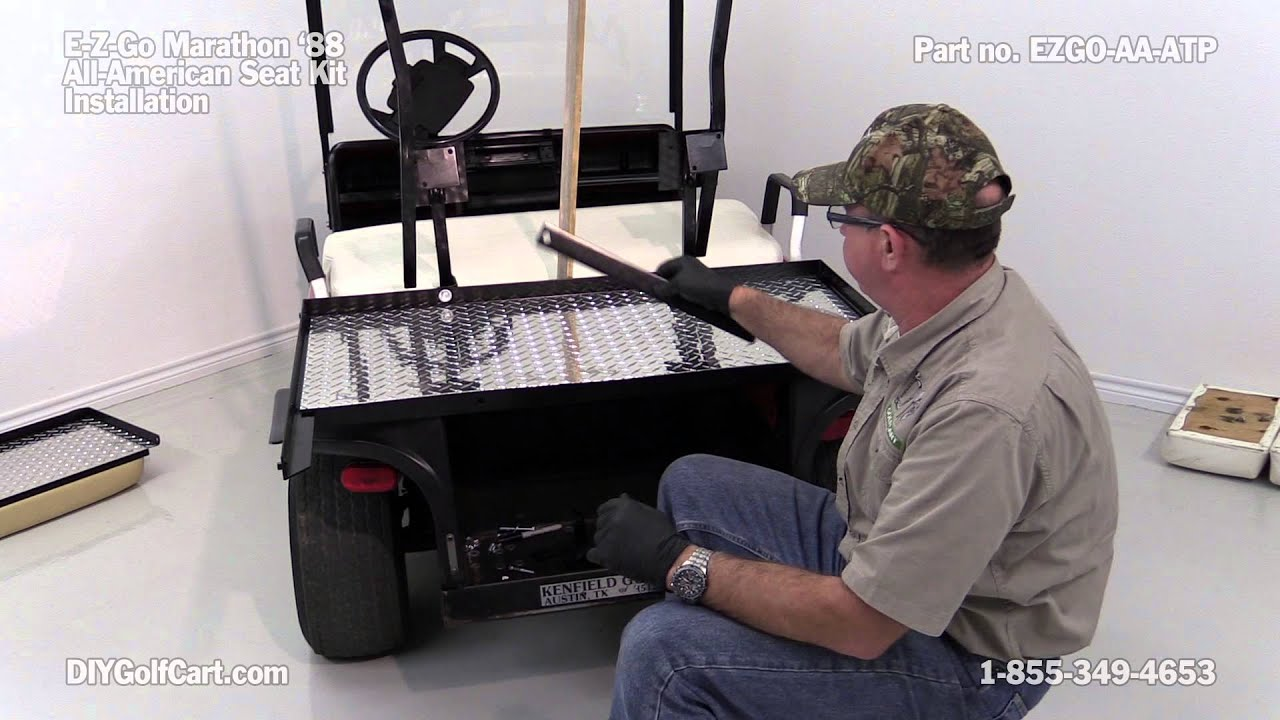 Ezgo marathon rear seat kit how to install diy golf cart youtube solutioingenieria Images