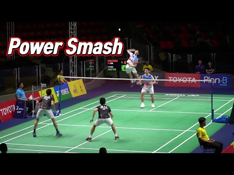 Power smash from both pair - Goh v shem/Tan wee kiong vs Han Chengkai/Zhou Haodong