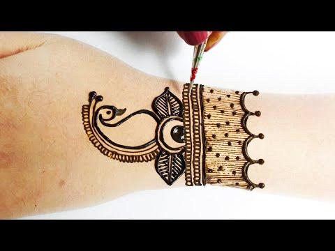 Beautiful Mehndi Design For Backhand - बहुत आसान मेहँदी डिज़ाइन लगाना सीखे - Stylish Mehandi
