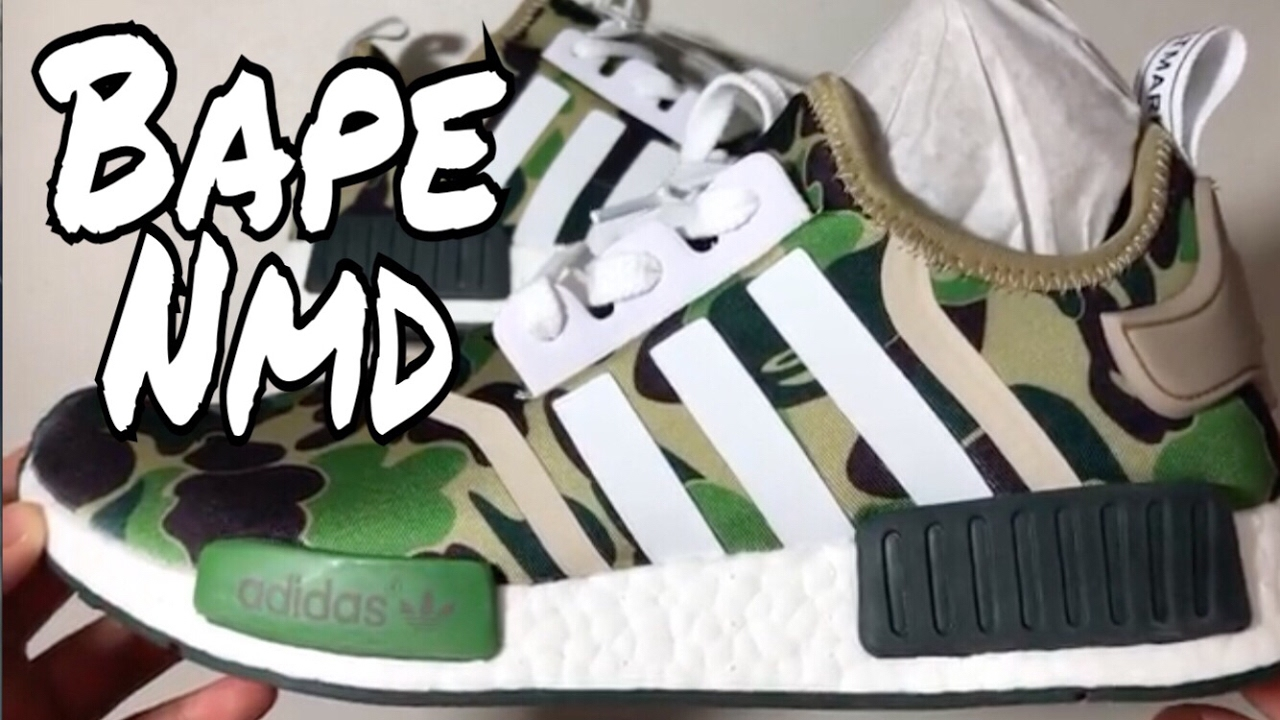 ae321c916 Best UA Adidas NMD R1 Bape From nbsneakers - YouTube