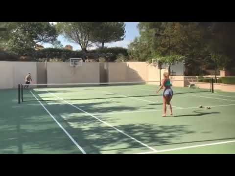 Britney Spears playing Tennis she is a Pro.....