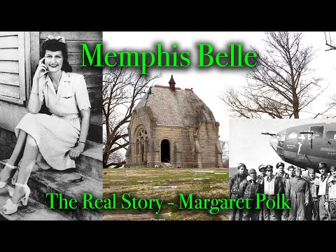 """THE REAL MEMPHIS BELLE, B-17 STORY - Margaret Polk, WW2 - """"Part 15 Goin South"""", in Memphis Tennessee"""
