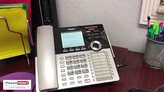 How to record message on hold directly to Vtech Small Business Phone System CM 18445