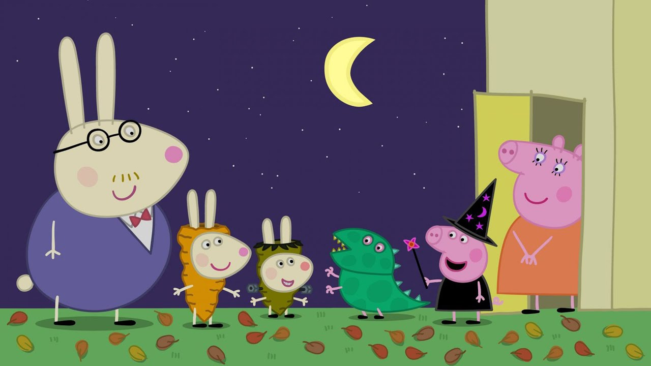 Peppa Pig Pumkin Party Coloring Pages For Kids Peppa Pig