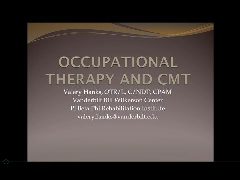 Occupational Therapy and CMT