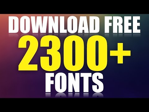 How To Download 2300+ Fonts Free For Coreldraw \u0026 Photoshop By AS GRAPHICS