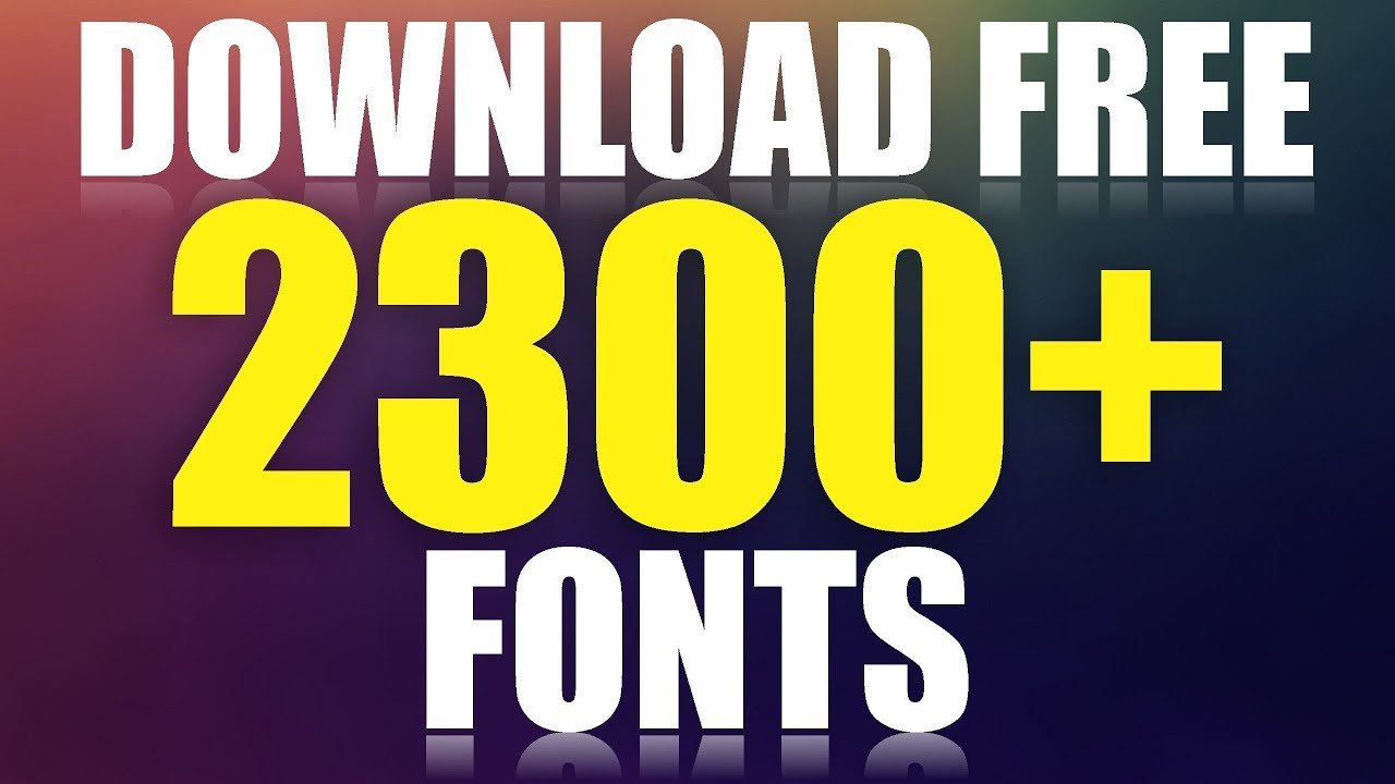 How to Download 2300+ Fonts Free For Coreldraw & Photoshop by AS GRAPHICS