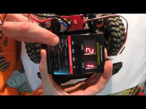 Tutorial QUICRUN WP 1080 Brushed ESC Crawler HOBBYWING
