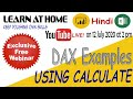 Gambar cover Webinar on DAX Examples using CALCULATE Function   Power Pivot For Excel in Hindi