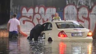Грозовые ливни вызвали наводнения на западе Германии(новости) http://9kommentariev.ru/