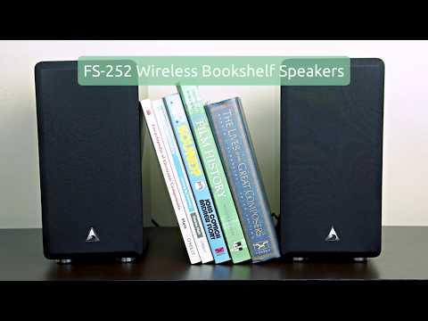 Atlantic FS-252 Wireless Bookshelf Speakers & STA-200 Amplifier | SKAA WIRELESS