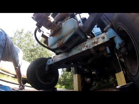 Ford tractor front axle removal