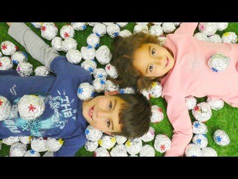 Eğitici çocuk videoları. Ceylin ve Eren ile kartopu oyunu