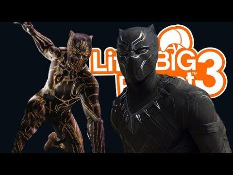 LittleBIGPlanet 3 - Black Panther Costumes [SACKYGAMING] - Playstation 4 Gameplay - 동영상