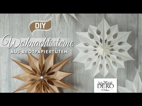 Diy Gro E Weihnachtssterne Aus Brotpapiert Ten Basteln