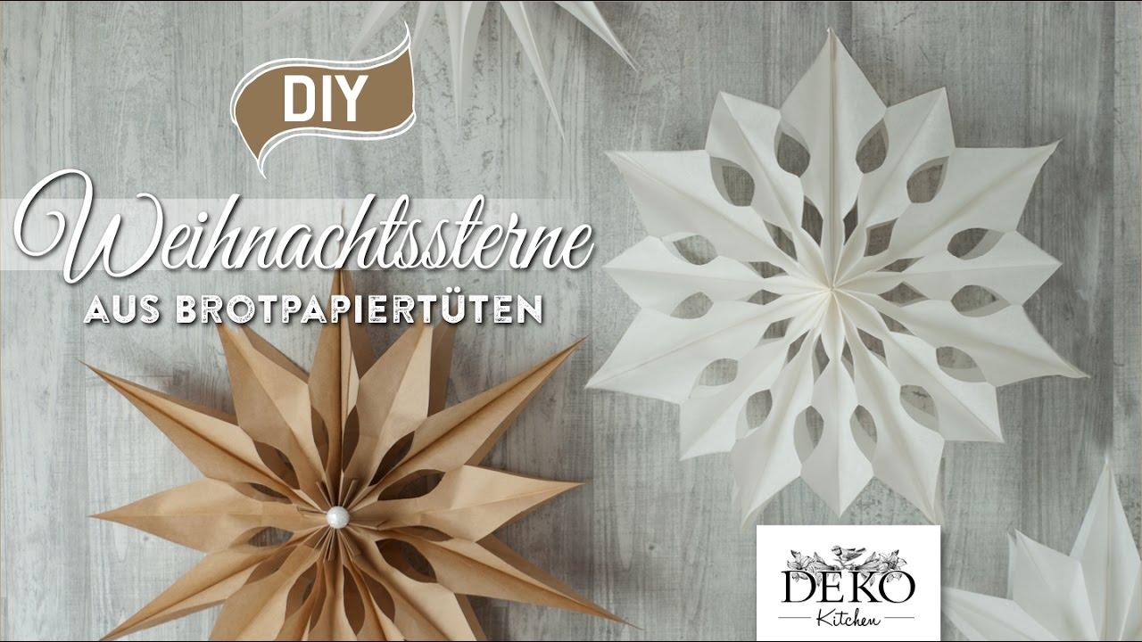 diy gro e weihnachtssterne aus brotpapiert ten basteln how to deko kitchen youtube. Black Bedroom Furniture Sets. Home Design Ideas
