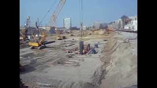 NLF - budowa baret - wstawianie klatki zbrojeniowej - kwiecień 2013