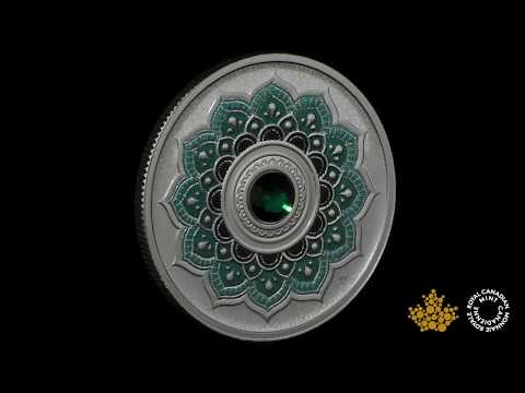 May Birthstone - Pure Silver Coin made with Swarovski® Crystals - RCM | MRC