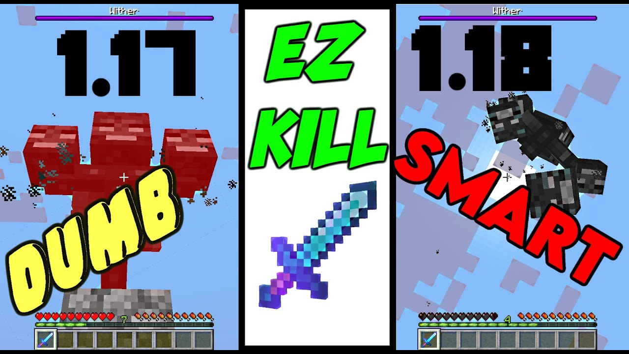NEW Easy Kill setup for 1.18 Minecraft SMARTER Withers!