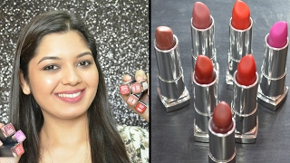 Maybelline Color Sensational Creamy Matte lipsticks | Review & Swatches