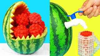 Stop Motion Cooking | Watermelon Ice Cream | Lego In Real Life | LEGO IRL & ASMR