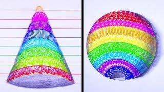20 Smart Drawing Tricks   Amazing Art Video