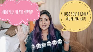 HUGE SOUTH KOREA SHOPPING HAUL| Skincare( top brands), Clothing , Bags & Shoes