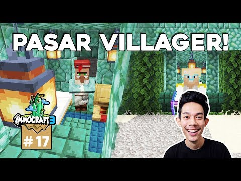 IMMOCRAFT S3 - Pasar Villager Di Ocean Monument (Minecraft Survival Indonesia) #17