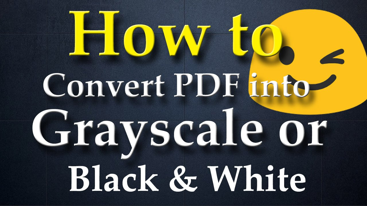 convert pdf to black and white preview
