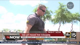 Off-duty security guard saves girl from being kidnapped