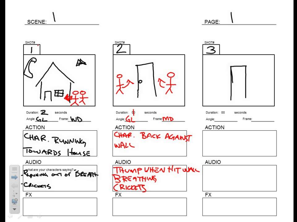 Storyboard Template  Youtube