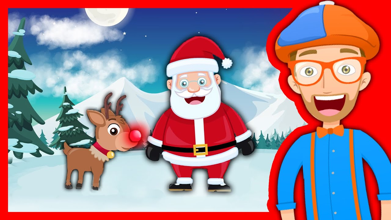 Christmas Songs for Kids with Blippi | Rudolph the Red Nosed ...