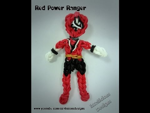 Rainbow Loom Red Power Ranger Action Figure/Charm Tutorial