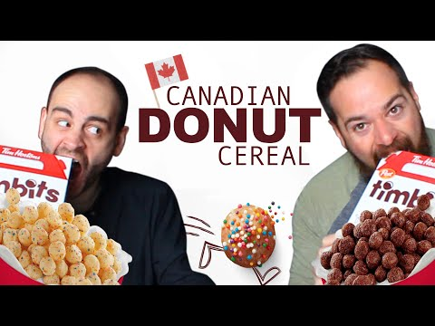 American Tries Canadian DONUT CEREAL (Tim Hortons Timbits)