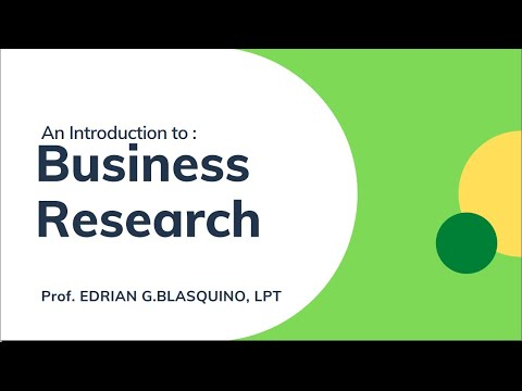 Business Research - Lecture
