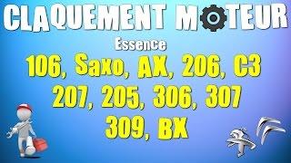 Bruit de Claquement moteur 106, Saxo, 206, c3, 207, 306, 307...