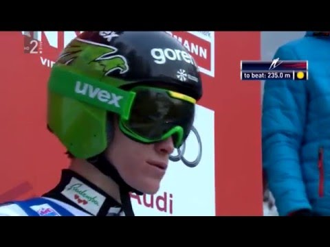 Peter Prevc - Kulm 2016 - 244m hill record and world champion (SLO commentary)