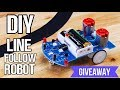 Make Line Follow Robot at Home + Giveaway!!!