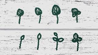 Beginner needle tatting. Leaves / Фриволите иглой для начинающих. Листики