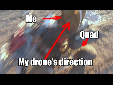 My drone tries to kill me in Litchi Follow-Me-mode on my Yamaha Raptor 700 Quad.