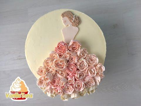 Bridal shower Torte / Hochzeitstorte / Brautkleid - YouTube