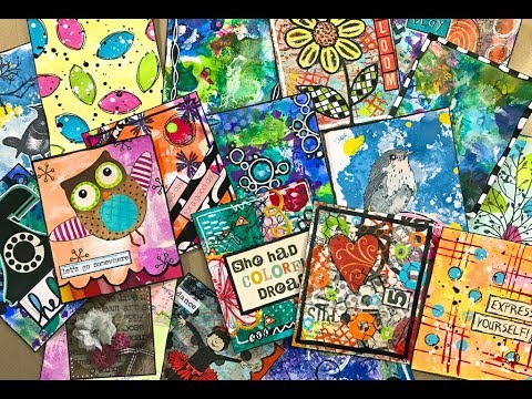 Recorded LIVE - Small Mixed Media Cards