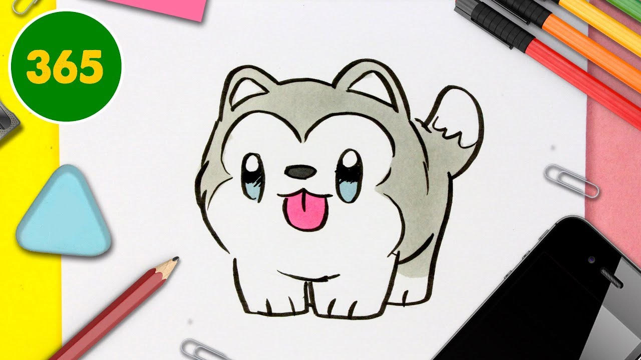 Comment Dessiner Un Chien Husky Kawaii Dessins Kawaii Faciles