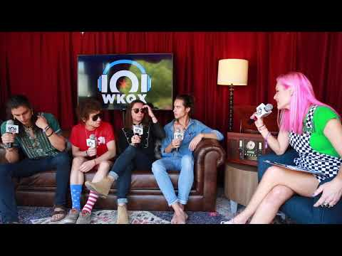 Greta Van Fleet backstage with 101 WKQX at Lollapalooza 2018
