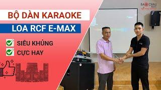Lắp đặt bộ dàn karaoke tại Hà Nội: Loa RCF E Max 3112, Sub hơi Alto 18+, Đẩy 4 kênh SAE TX800Q