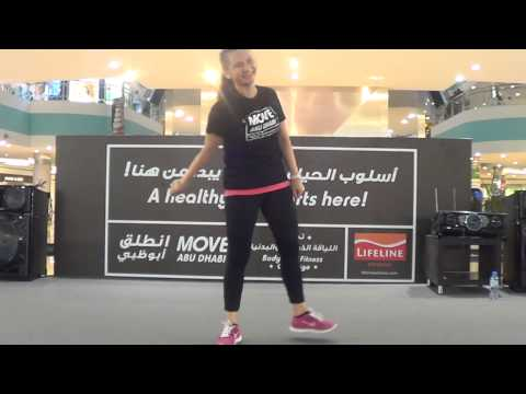 Danced their steps to fitness at Move Abu Dhabi, Mushrif Mall